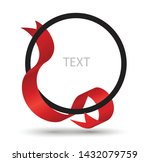 circle frame with red ribbon | Shutterstock .eps vector #1432079759
