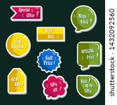 sales colorful stickers. vector ... | Shutterstock .eps vector #1432092560