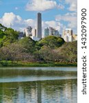 beautiful view of the obelisk...   Shutterstock . vector #1432097900