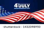 4th of july poster template.usa ... | Shutterstock .eps vector #1432098950