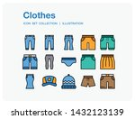 clothes icons set. ui pixel...