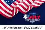 4th of july poster template.usa ... | Shutterstock .eps vector #1432123580