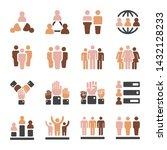world population in diferent... | Shutterstock .eps vector #1432128233
