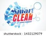 smart laundry detergent... | Shutterstock .eps vector #1432129079