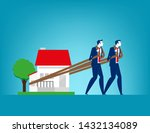house loan. concept finance and ... | Shutterstock .eps vector #1432134089