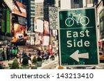 east side bike path sign in...   Shutterstock . vector #143213410