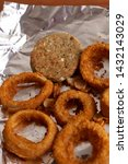 close up of onion rings and...