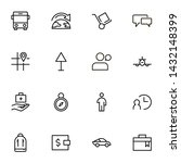 airport icon set. collection of ... | Shutterstock .eps vector #1432148399