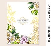 romantic wedding invitation... | Shutterstock .eps vector #1432153139