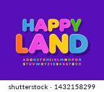 vector colorful logotype happy... | Shutterstock .eps vector #1432158299