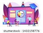 marketing students create... | Shutterstock .eps vector #1432158776