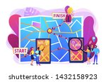smartphone digital map  gps...   Shutterstock .eps vector #1432158923