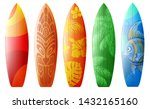 Surfboards Set With Different...