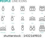 set of people icons user  man ... | Shutterstock .eps vector #1432169810