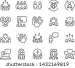 set of meeting icons  such as... | Shutterstock .eps vector #1432169819