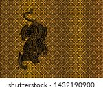 dragon on thai traditional... | Shutterstock .eps vector #1432190900