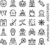 halloween icons pack. isolated... | Shutterstock .eps vector #1432191053