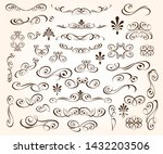 set of elegant decorative... | Shutterstock .eps vector #1432203506
