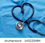 doctor coat with stethoscope | Shutterstock . vector #143220484