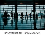 silhouettes of people with... | Shutterstock . vector #143220724