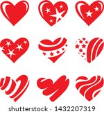 icon red heart flat style ... | Shutterstock .eps vector #1432207319