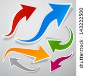 vector illustration of sticky... | Shutterstock .eps vector #143222500
