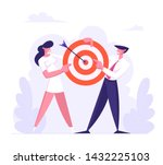 business man and woman team... | Shutterstock .eps vector #1432225103