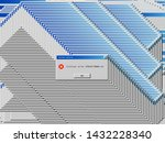 old critical error alert.... | Shutterstock .eps vector #1432228340