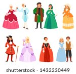 renaissance clothing vector... | Shutterstock .eps vector #1432230449