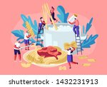 male and female characters... | Shutterstock .eps vector #1432231913