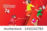 indonesia traditional games... | Shutterstock .eps vector #1432232783