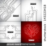 vector abstract circuit board... | Shutterstock .eps vector #143223418