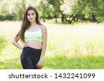pretty woman doing sport... | Shutterstock . vector #1432241099