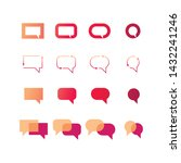 set of vector speech bubble...   Shutterstock .eps vector #1432241246