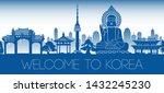 korea famous landmark blue...   Shutterstock .eps vector #1432245230
