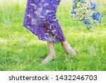 young woman legs walking... | Shutterstock . vector #1432246703