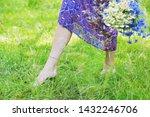 young woman legs walking... | Shutterstock . vector #1432246706