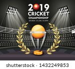 live cricket tournament poster... | Shutterstock .eps vector #1432249853