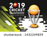 live cricket tournament poster... | Shutterstock .eps vector #1432249859