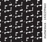 halftone monochrome texture... | Shutterstock .eps vector #1432259663