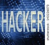 hacker text in blue code... | Shutterstock . vector #143226073