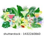 vector illustration of summer... | Shutterstock .eps vector #1432260860