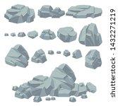 rock stones. natural stone... | Shutterstock .eps vector #1432271219