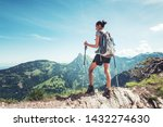 Fit Young Woman Hiking In The...