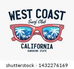 vector sun glasses with... | Shutterstock .eps vector #1432276169