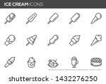 ice cream vector line icons set.... | Shutterstock .eps vector #1432276250