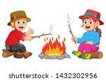 the children are burning the...   Shutterstock .eps vector #1432302956