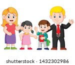 the happy family are posing...   Shutterstock .eps vector #1432302986