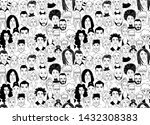decorative diverse women's men...   Shutterstock .eps vector #1432308383