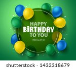 happy birthday vector... | Shutterstock .eps vector #1432318679
